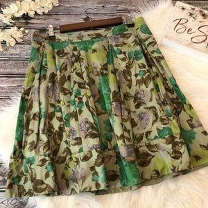 Anthropologie Odille Floral Skirt A-Line, Size 8